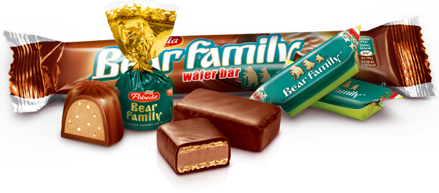 Bear Family Wafer Bars and Candies