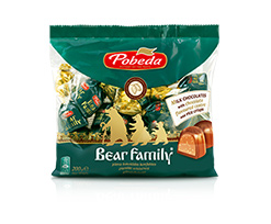 Bear Family Chocolate Candies