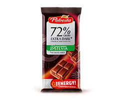 No Sugar Added  Extra Dark Chocolate 72%  Cocoa with Stevia
